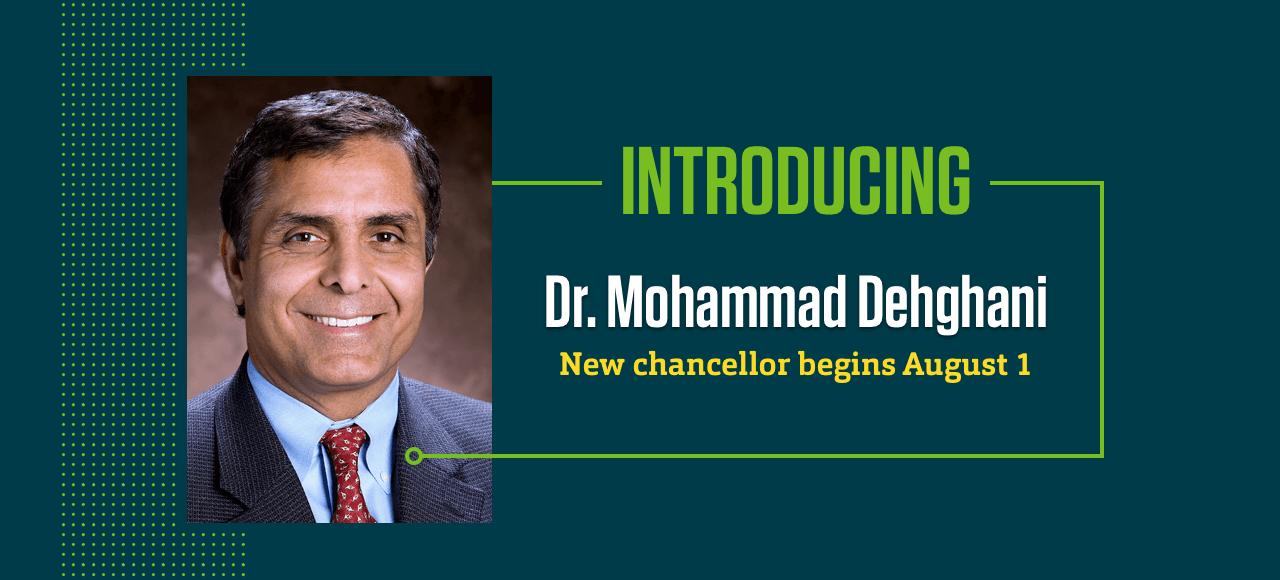 Dr. Mohammad Dehghani, Missouri S&T chancellor-designate