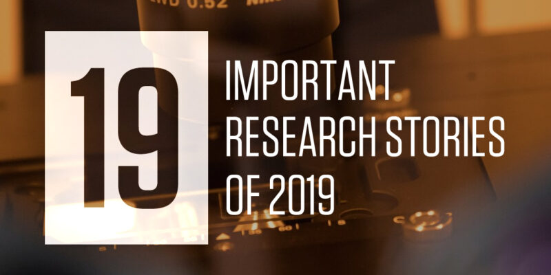 19 important research stories of 2019