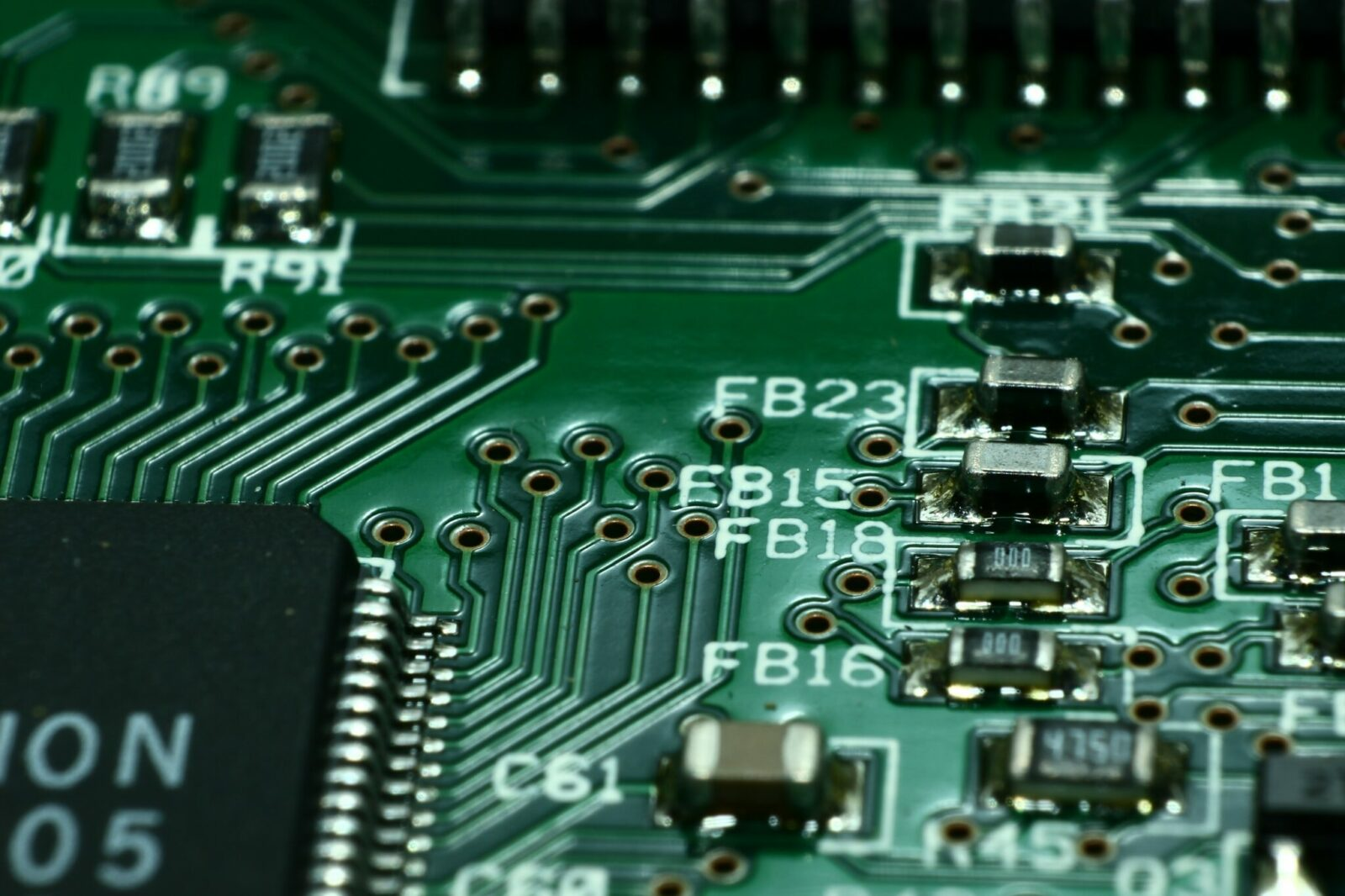 Photo of printed circuit board