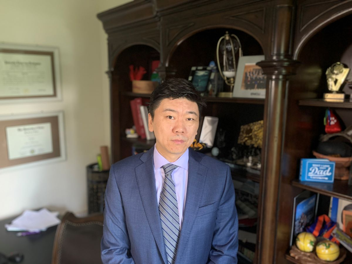 Dr Hu Yang in his office