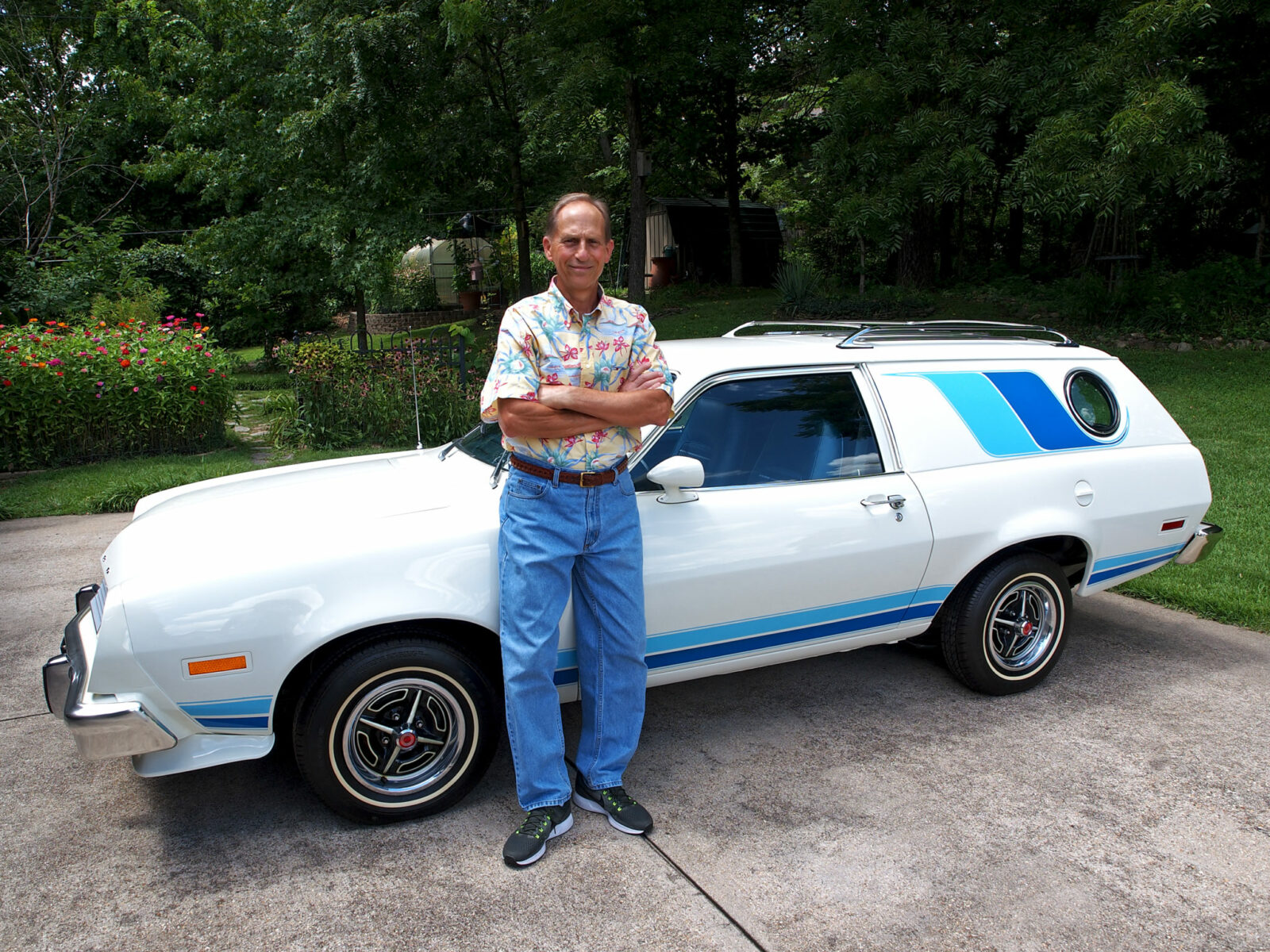 Dr. Gary Mueller with his 1977 Ford Pinto Cruise Wagon
