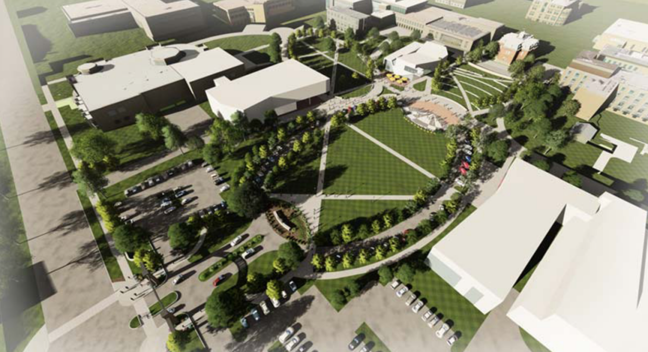 Architect's rendering of the planned Missouri S&T Arrival District.