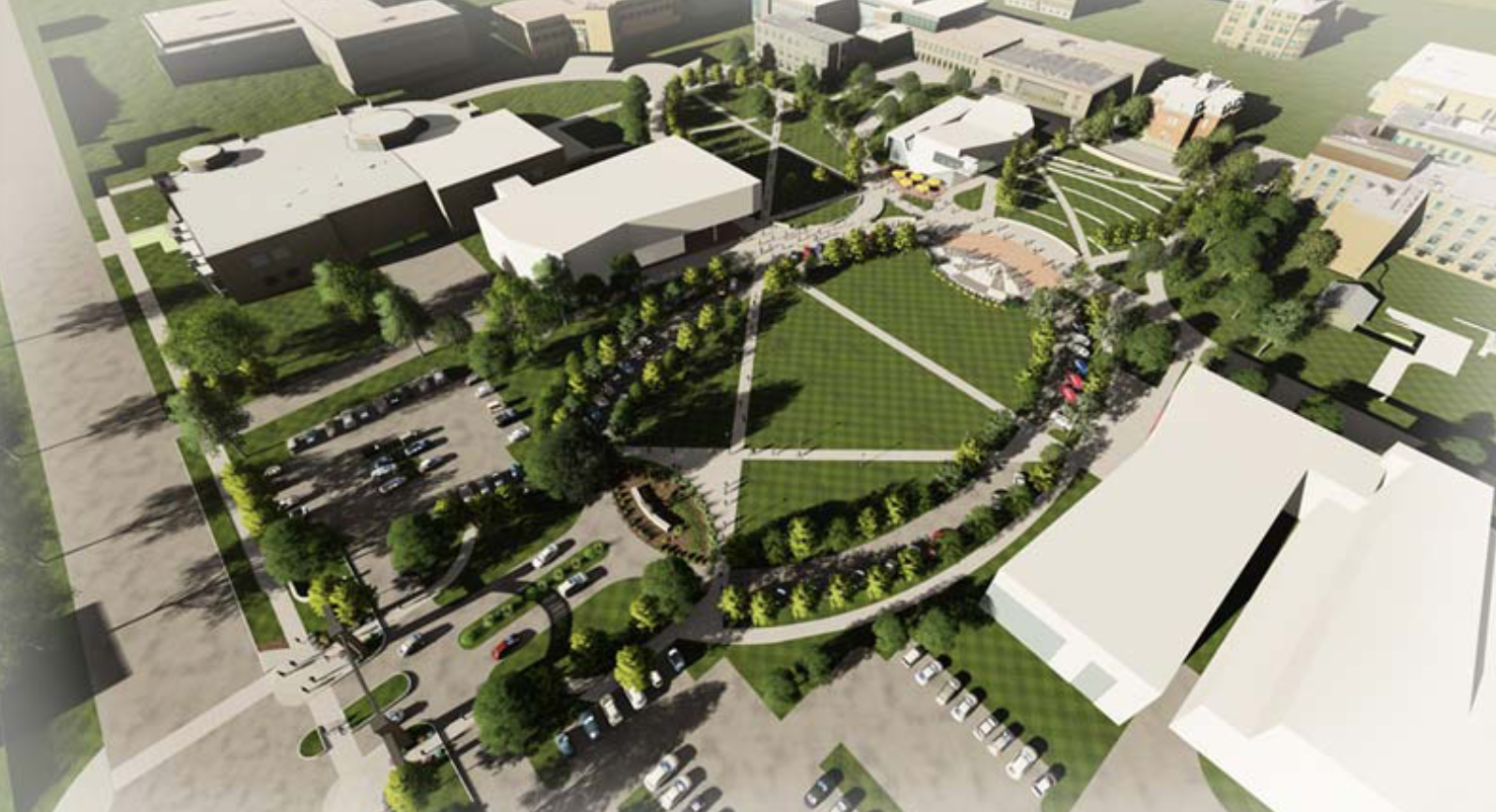 Artist's rendering of the arrival district.