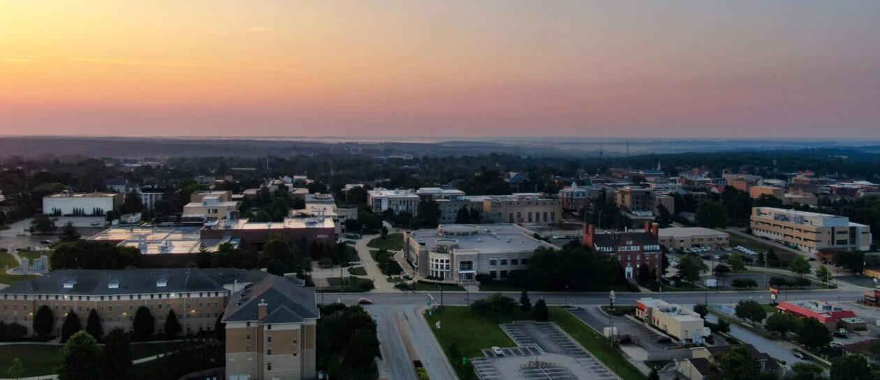Photo of S&T campus at sunrise