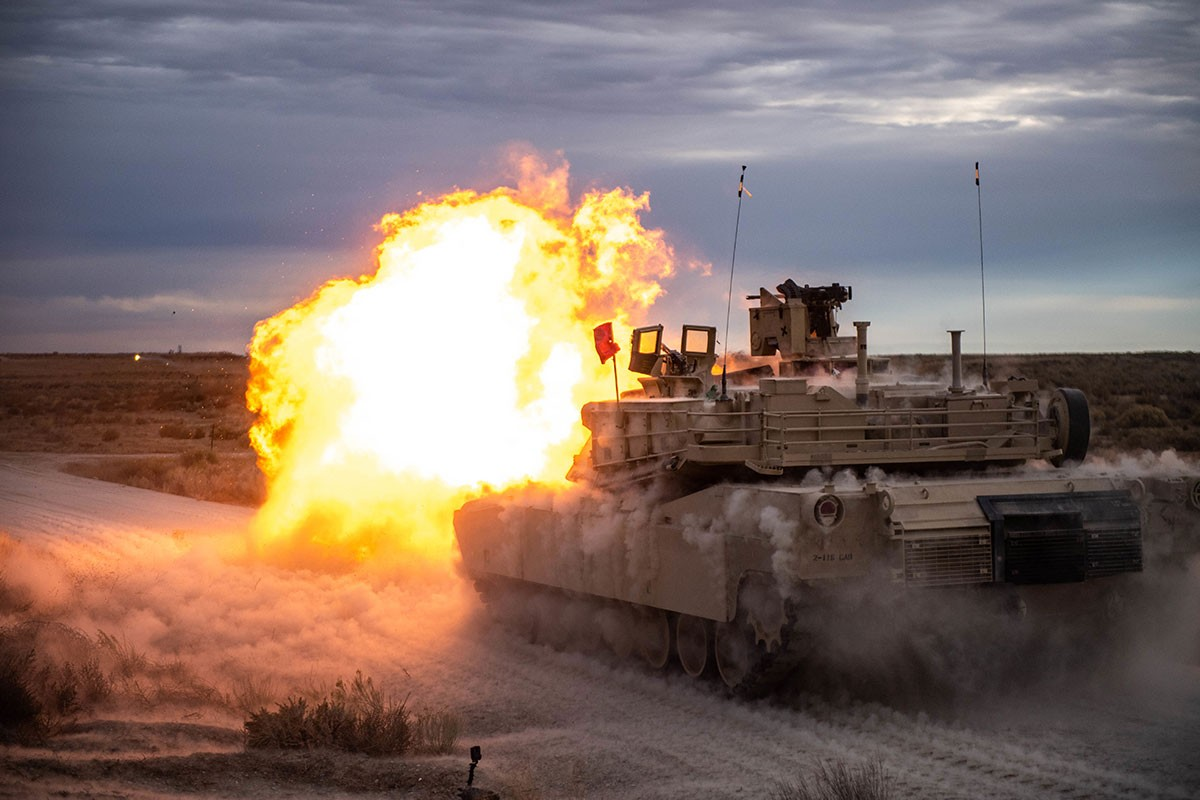 photo of M1 Abrams tank