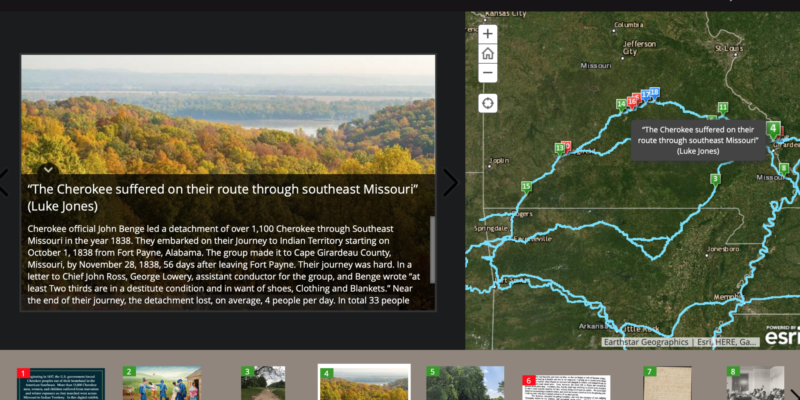 Missouri S&T students create digital story map to trace Trail of Tears journey through Missouri