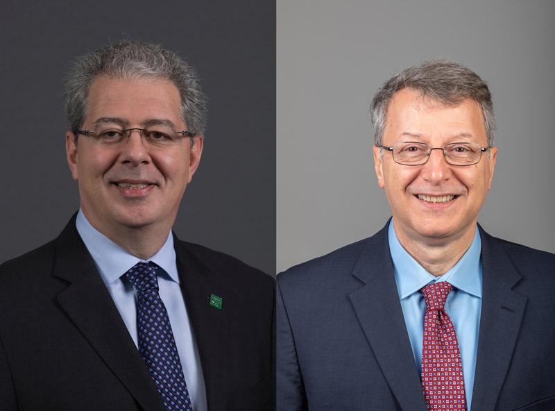 Dr. Costas Tsatsoulis (left) and Dr. Kamal Khayat (right)